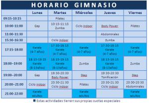 horarios-actividades-gimnasio-torrent